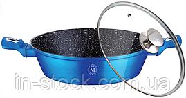 Сковорода з кришкою Meisterklasse MK-1047 blue marble