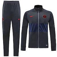 Спортивный костюм ПСЖ темно-серый с синим сезон 2019-2020