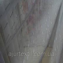 """Тюль лен """"Тайна"""" серый, фото 2"""