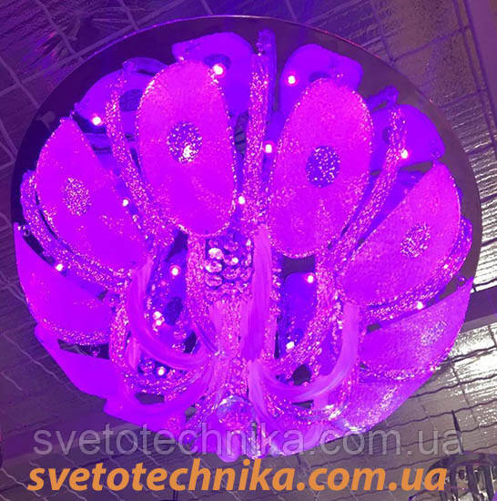 Люстра светодиодная с пультом стекло Е27  RGB