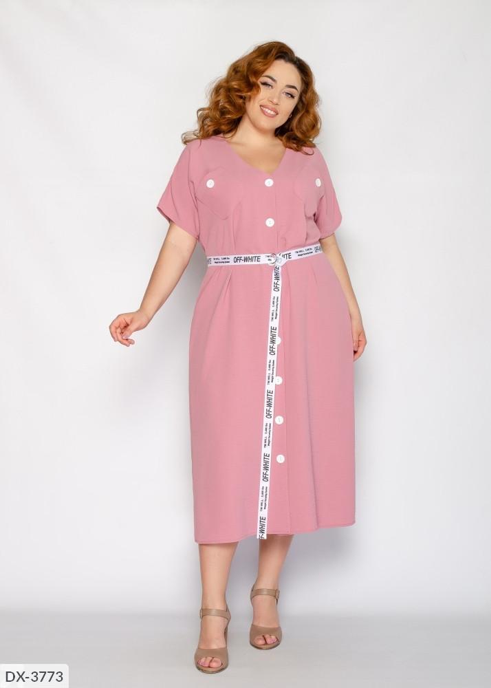 Стильное платье  (размеры 50-56) 0249-79