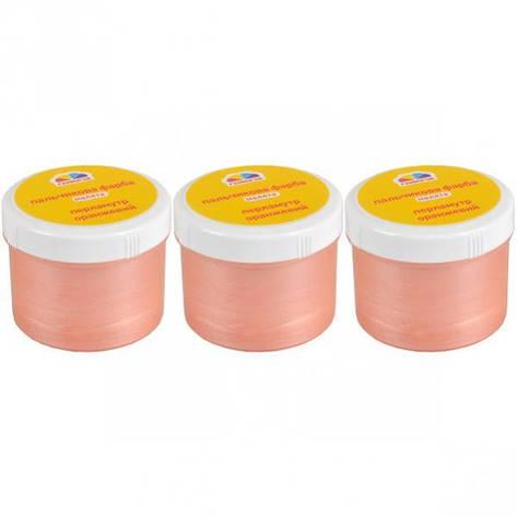 Краска пальчиковая Малятко Оранжевый перламутр 60мм, фото 2