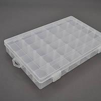 Пластмассовый ящик для радиодеталей, 270 х 45 х 175 мм, 36 отделений