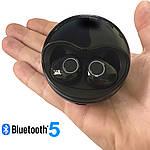 Беспроводные наушники Wi pods K10 блютуз наушники  bluetooth 5.0  наушники с микрофоном Черные, фото 2