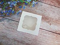 Коробка для изделий ручной работы с окном, 80х80х35 мм, белая, 1 шт, фото 1