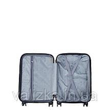 Пластиковий чемодан маленький з полікарбонату з принтом хвиля Madisson Франція, фото 3