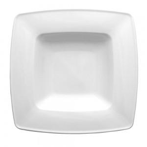 Тарелка фарфоровая квадратная глубокая Lubiana Victoria 230мм*230мм