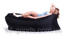 Надувной шезлонг диван мешок Ламзак Lamzac черный