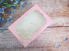 Коробка для изделий ручной работы с окном, 100х150х30 мм, цвет розовый, 1шт