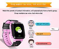 Детские часы Smart Baby Watch Y22+GPS трекер и фонарик Pink Pink