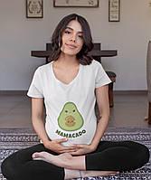 Женская футболка для беременных 100% хлопок с картинкой MAMACADO
