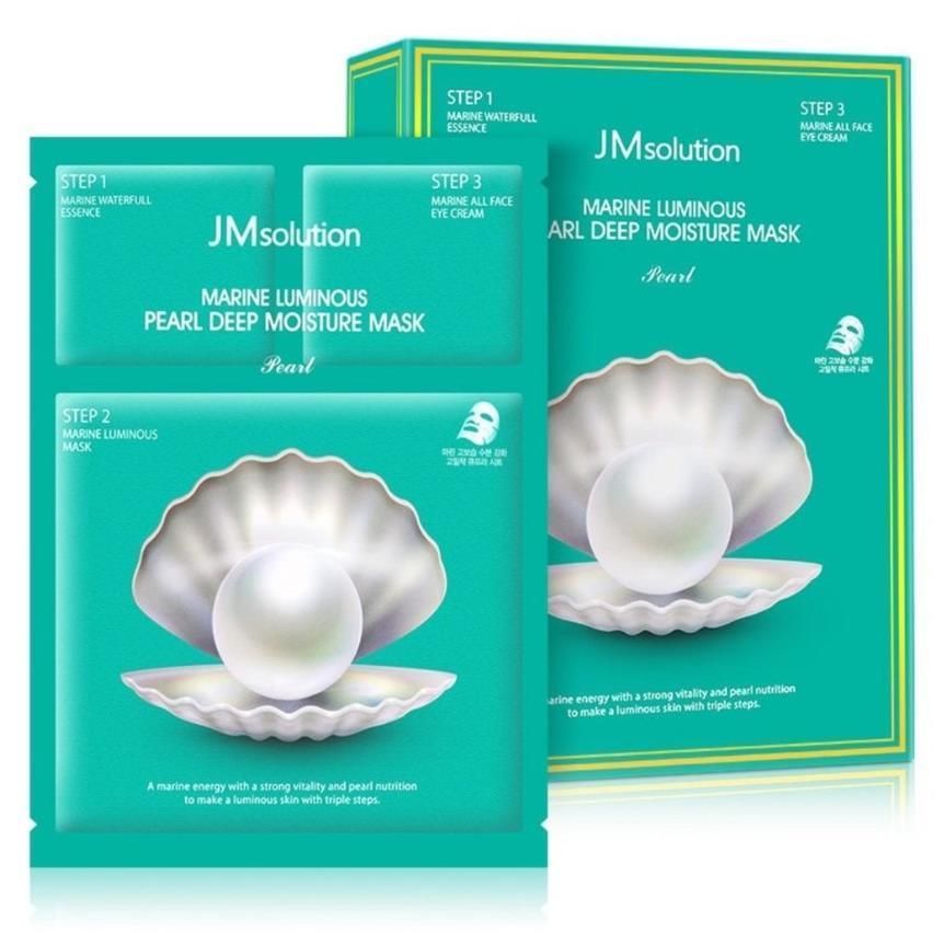 Трёхшаговый набор для сияния кожи JM Solution Marine Luminous Pearl Balancing Mask