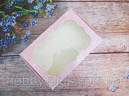Коробка для изделий ручной работы с окном, 100х150х30 мм, цвет розовый (одуванчик), 1шт