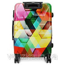 Средний пластиковый чемодан с принтом ромб Madisson Франция, фото 3