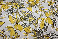 Ткань лен натуральный принт.  цвет (1,45 м ширина)