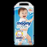 Moony подгузники – трусики Air Fit L  (9-14) кг, 44 шт. для мальчика (mp013)