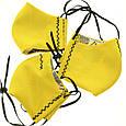 Маска многоразовая Yellow с фиксатором на носу модель 7.42, фото 3