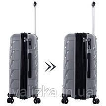 Средний пластиковый чемодан из полипропилена серый Snowball 92803 Франция, фото 2