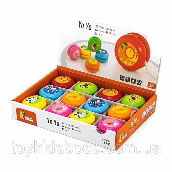 Іграшка Viga Toys Йо-йо, 12 шт. в дисплеї (53769)