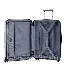 Средний пластиковый чемодан из полипропилена серый Snowball 92803 Франция, фото 3