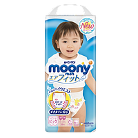 Moony подгузники – трусики Air Fit Big (12-22) кг, 38 шт. для девочки (mp020)
