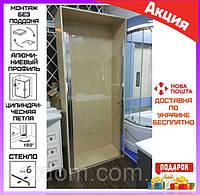 Душевая дверь в нишу90 см VeronisD-5-90 Line профиль хром/стекло прозрачное