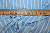 Ткань Супер софт полоса голубая.  (1,50 м ширина)
