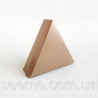 Коробка подарункова для 6 цукерок 150х150х150х40 мм, колір металік