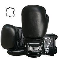 Боксерські рукавиці PowerPlay 3088 Чорні (натуральна шкіра) 12 унцій