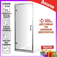 Душевая дверь в нишу90 см VeronisD-7-90 профиль хром/стекло прозрачное