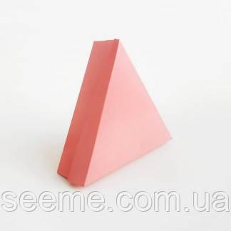 Коробка подарункова для 6 цукерок 150х150х150х40 мм, колір кораловий