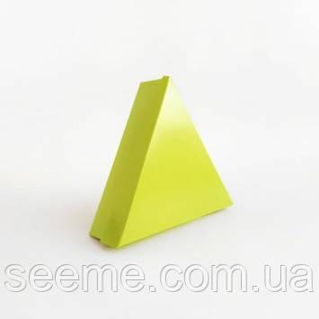 Коробка подарункова для 6 цукерок 150х150х150х40 мм, колір лайм