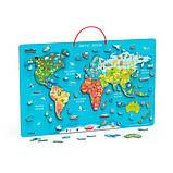 Магнітний Пазл Viga Toys Карта світу з маркерною дошкою (44508), фото 2