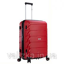 Большой пластиковый чемодан из полипропилена красный Snowball 92803 Франция, фото 2