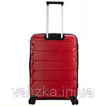 Большой пластиковый чемодан из полипропилена красный Snowball 92803 Франция, фото 3