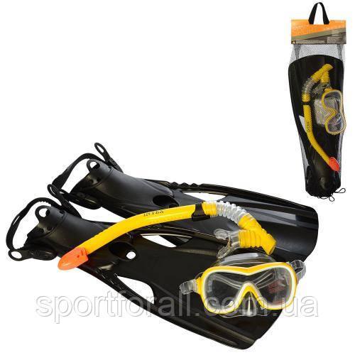 Набор для плавания (маска, трубка, ласты) Intex  р.8+ 55658