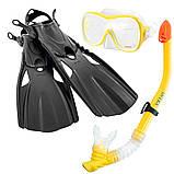 Набір для плавання Intex (маска, трубка, ласти р-38-41) 55658, фото 2