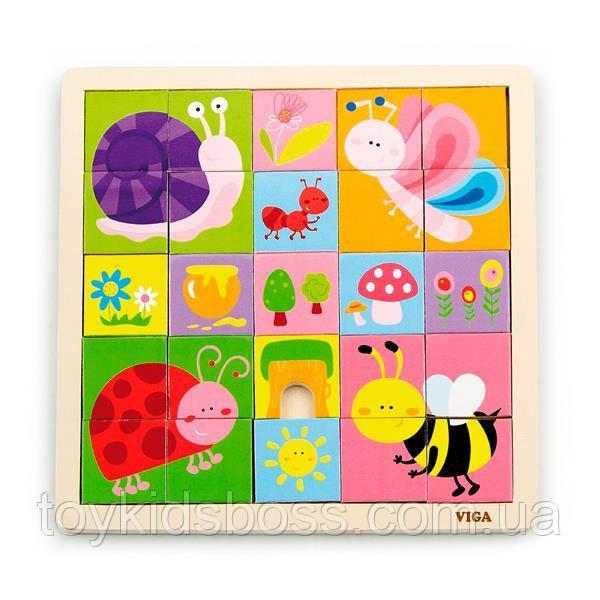 "Пазл Viga Toys ""Комахи"", 25 елементів (50150)"