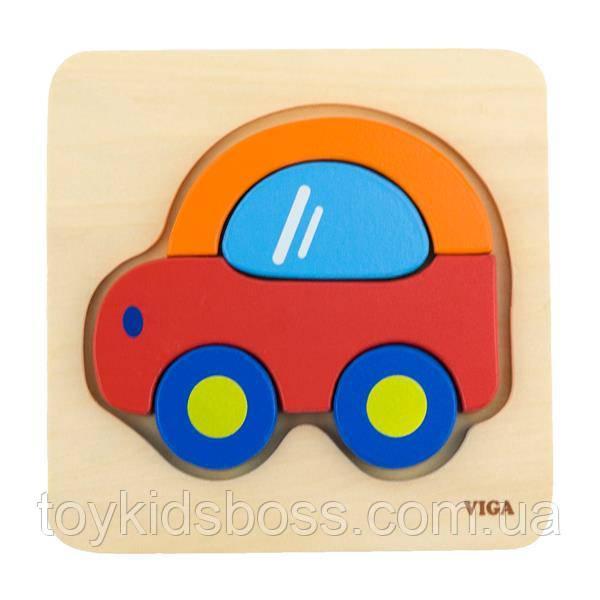 """Міні-пазл Viga Toys """"Машинка"""" (50172)"""