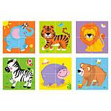 Пазл-кубики Viga Toys Дикие животные (50836), фото 2
