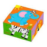 Пазл-кубики Viga Toys Дикие животные (50836), фото 4