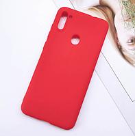 Чехол для Samsung Galaxy А11 А115 силиконовый красный (Самсунг А115), фото 1