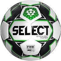 Мяч футбольный SELECT Brillant Super FIFA PFL бело-зелёный, размер 5