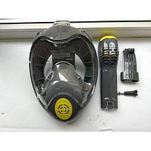 Маска полнолицевая для снорклинга BS Diver; двойной верхний клапан (S/M)