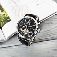 Механические часы модель Jaragar 540, новинка черные