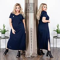Льняное платье длинное, 48-62, фото 1