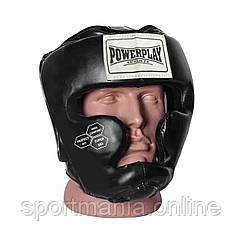 Боксерский шлем тренировочный PowerPlay 3043 черный XS