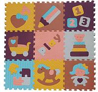 """Детский коврик-пазл BabyGreat """"Интересные игрушки"""", 92х92 см"""