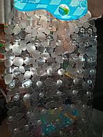 Коврик для ванны силиконовый  40 х 60см камушки прозрачные овальный