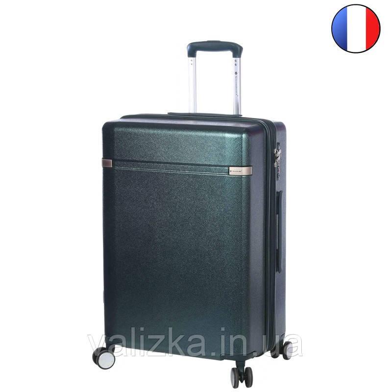 Средний пластиковый чемодан из поликарбоната зеленый Snowball 92103 Франция